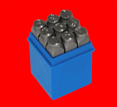 Schlagstempel Einschlagzahlen 0-9 Qualitäts Schlagzahlen Satz Gr 9 tlg 8mm
