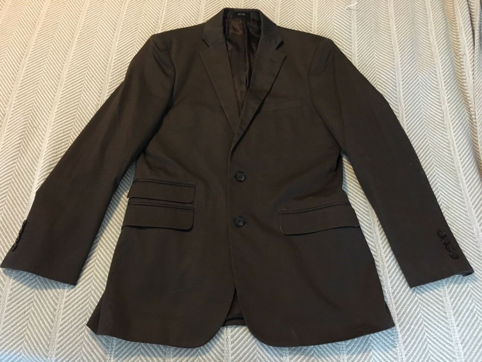J Ferrar Modern Fit Brown Blazer Size 36 XS