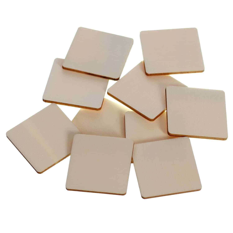 Holz Quadrate Holzscheiben - 1-60cm Streudeko Basteln Deko Tischdeko