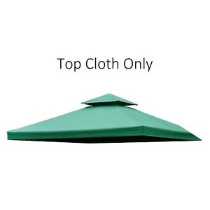 Outsunny-10-x10-2-Tier-Gazebo-Canopy-Top-Cover-Replacement-Square-Green