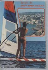 Santa Maria di Leuca PIN UP Sexy Bikini Girl Windsurf PC Circa 1980s