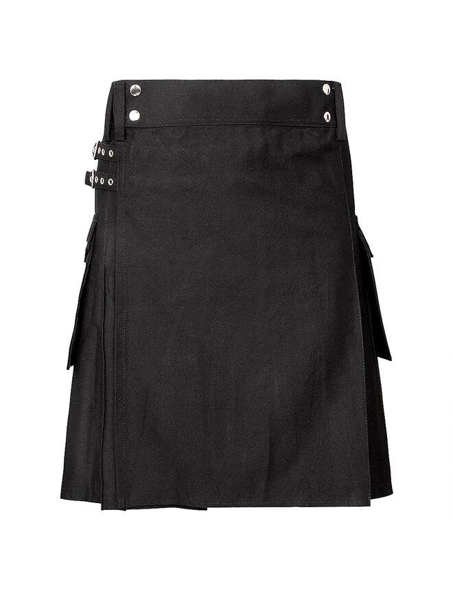 Scottish Utility kilt for Men Traditional wedding Cotton Jeans Hybrid Punk Goth