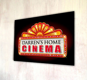 Image Is Loading Personalised Home Cinema Lights Metal A4 Sign Plaque