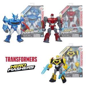 Nouveau Transformers Steeljaw Bourdon ou Sideswipe Hero Mashers chiffres officiels  </span>