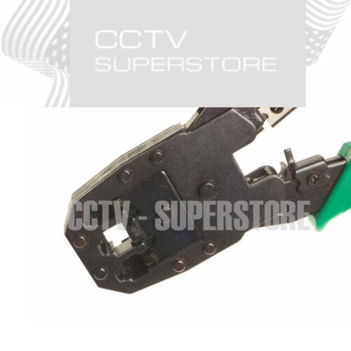 Cat5e 1000ft Cable Tester Crimper 20 RJ45 Connector Plug Network Blue Tool Kit