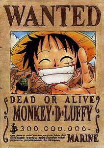 Sticker Autocollant Poster A4 Manga One Piece Affiche