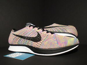 best website f0d57 441e4 Image is loading NIKE-FLYKNIT-RACER-ONE-MULTICOLOR-DARK-GREY-BLUE-