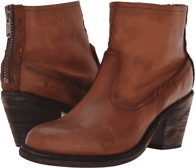 New in Box FRYE Womens Leslie Artisan Short Cognac Boots Size 9.5 MSRP $ 328