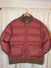NWOT Rare ORVIS 1856 Quilted Duck Down Brown Jacket Puffer Coat Large