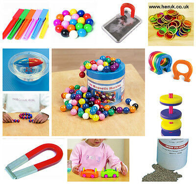 Imán de herradura chips de recursos de aprendizaje Canicas Varita Magnético Montessori Sen