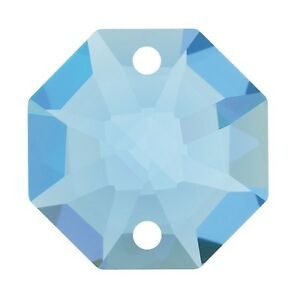 Le Meilleur 10 Pz Ottagono Da Mm14 Cristallo Swarovski Medium Sapphire 2 F. Ricambio Strass Ventes Pas ChèRes 50%