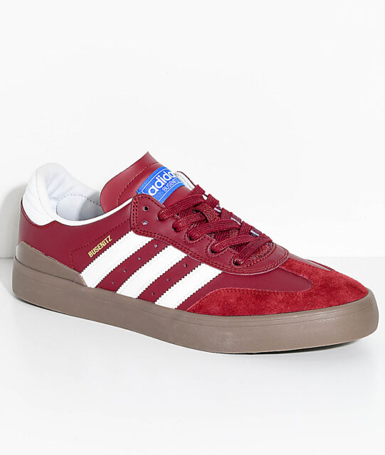 online store e6a6c 349e2 Mens Adidas Busenitz Vulc RX Red Leather Skate Boarding Trainers UK 4 - 13