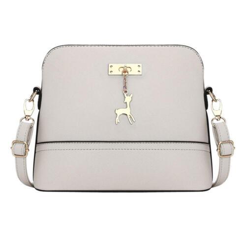 Women Ladies PU Leather Shoulder Bag Messenger Crossbody Satchel Deer Shell Bags