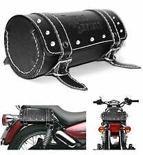 Side Saddle Roll Bag Back Carrier/Tool Bag for Royal Enfield - Black .
