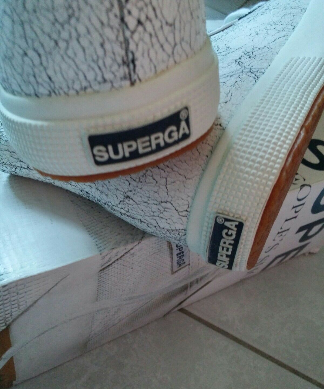 Superga Sneaker-crackedleaw-NUOVO + OVP-Tg. 41 1/2