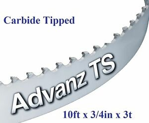 10ft 120 X 3 4 X 3t Carbide Tipped Bandsaw Blade Ebay