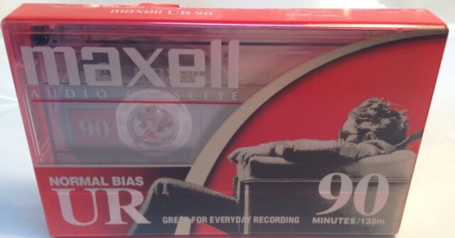 MAXELL UR 90 AUDIO CASSETTE, 90 minutes MAXELL FULL LIFETIME WARRANTY,BRAND NEW