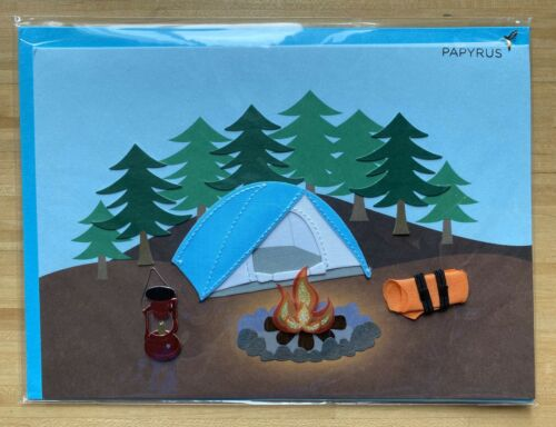 Papyrus Fathers Day Card Camping Camp Fire Happy Trails Filled W Fun Adventure