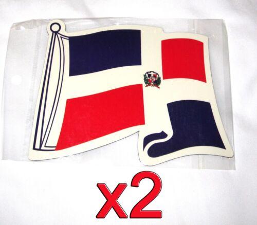2 pack Dominican Republic Flag Magnets Fridge//Car//Locker Imán Bandera UV protect
