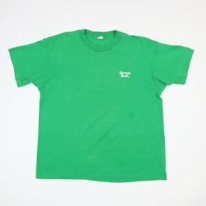 Vtg-80s-Barnett-Bank-T-Shirt-LARGE-Faded-Green-Screen-Stars-Single-Stitch-USA-Md