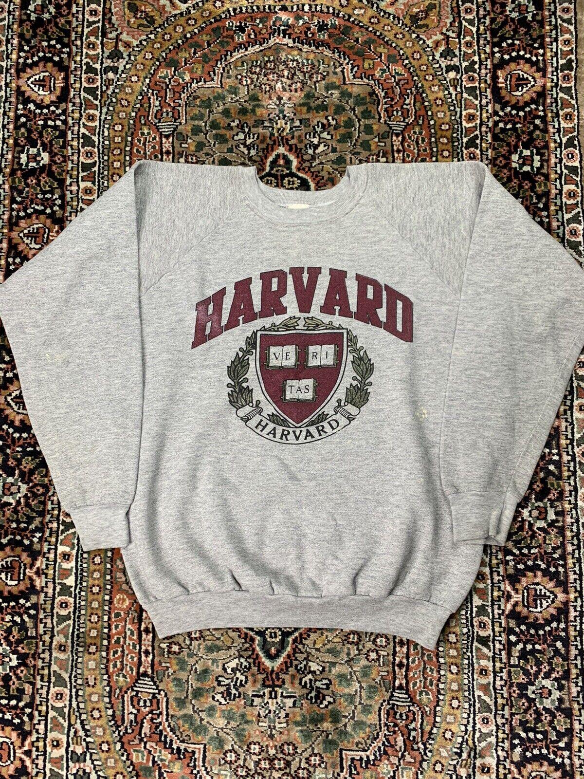 Vtg Harvard Crewneck Sweatshirt Size XL 4