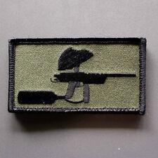 """Mech paintball patch - 3.5"""" x 1.5"""" sniper 2 autococker pump hook & loop backing"""