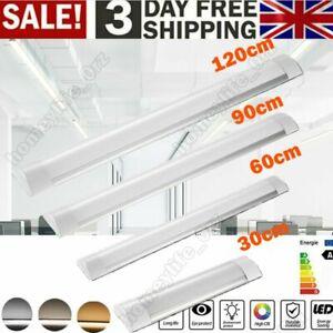 Led Batten Light 4ft 3ft 2ft 1f wide Slim Tube Light Ceiling wall Strip Daylight