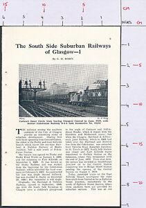 ZAS110* Scotland Glasgow South Side Suburban Rwys 1954 magazine article