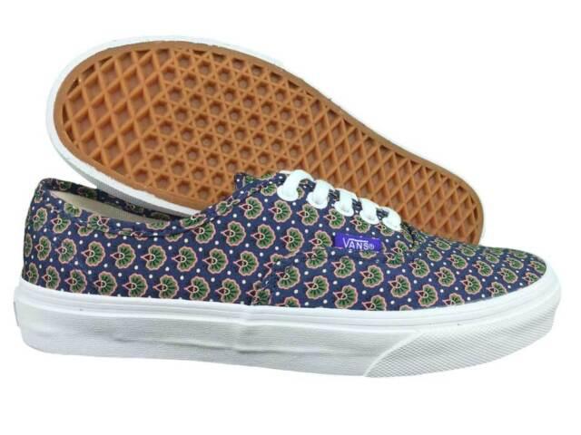 9de32c5c3b VANS. Authentic Liberty. Floral   Navy Blue Unisex Shoe. Mens US Size 6.5