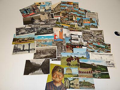 100 Vintage Postkarten Sammlung UK /& Ausland Topo B-weiß Farbe Mengenangebot