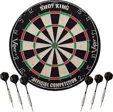 Viper Shot King Sisal Fiber Bristle Dartboard with Staple-Free Bullseye