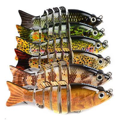 6pcs//Lot Lure 12.2cm 17g Fishing Lures 5 Sections Swimbait Bait Tackle Swimbaits