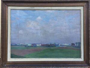 Impressionist-Ernst-Mandrel-1889-1927-WIDE-LANDSCAPE-Neustadt-Coburg-Munich