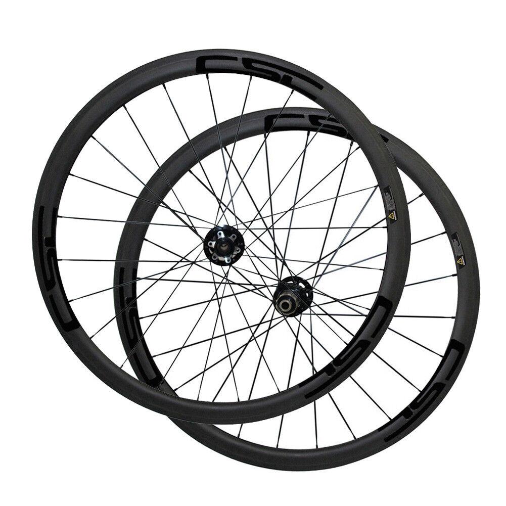 700C Carbon Disc Brake Wheels Clincher Tubular Cyclocross Bike Wheels 6 Bolts