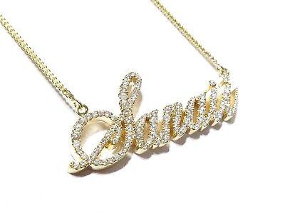 FB Jewels 14K Yellow Gold Puerto Rican Princess Script Pendant