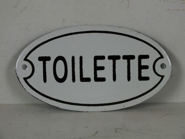WC Schild aus Stahlblech Toilettenschild Toilette, Ovales dezentes Türschild
