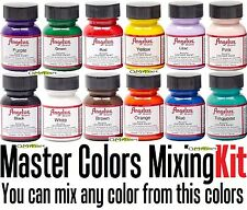 12 1oz Set Starter Kit Angelus Acrylic 1 oz Jordan Sneaker Paint Leather Vinyl