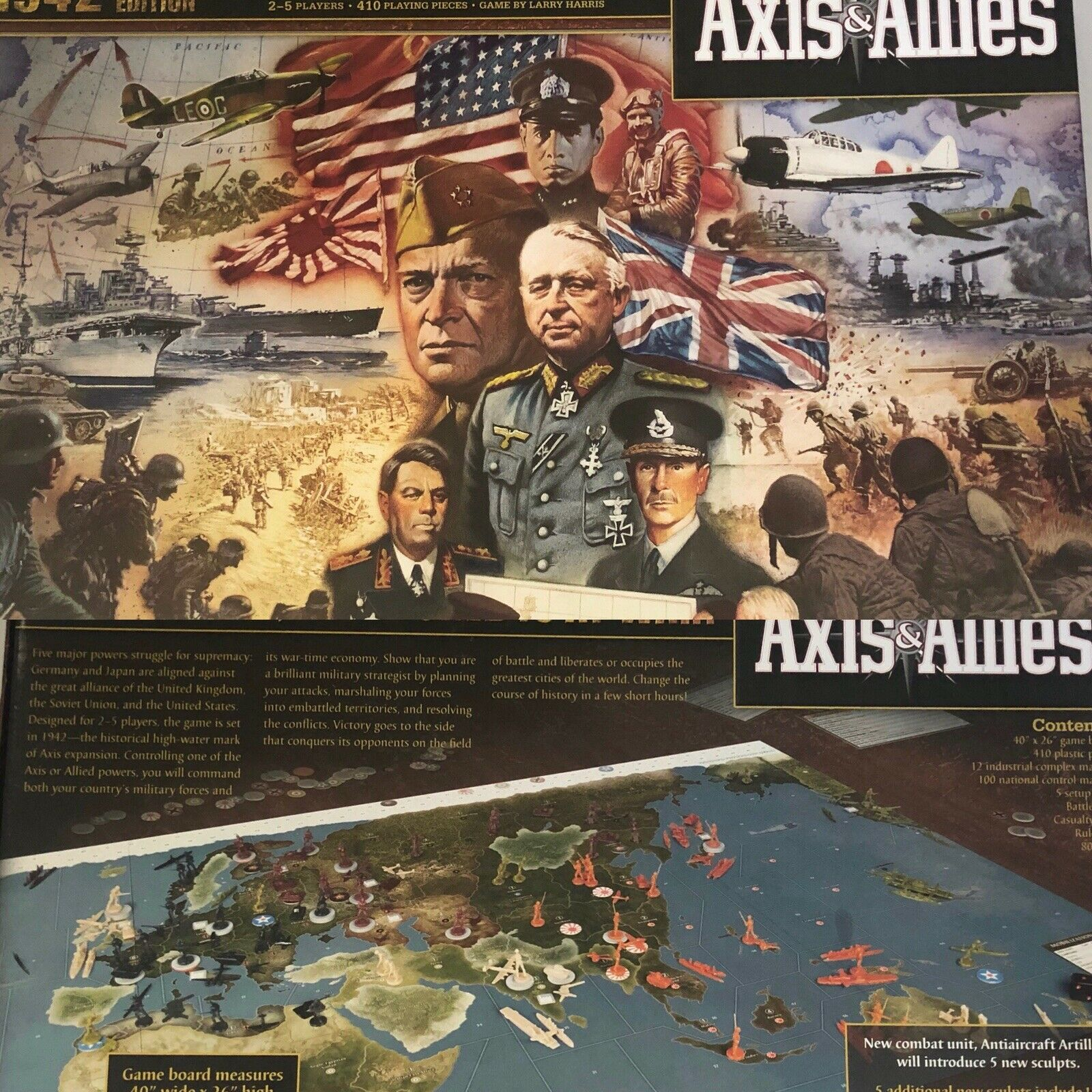 Axis &  Allies Board Game 1942 Second Edition EUC  avec 60% de réduction