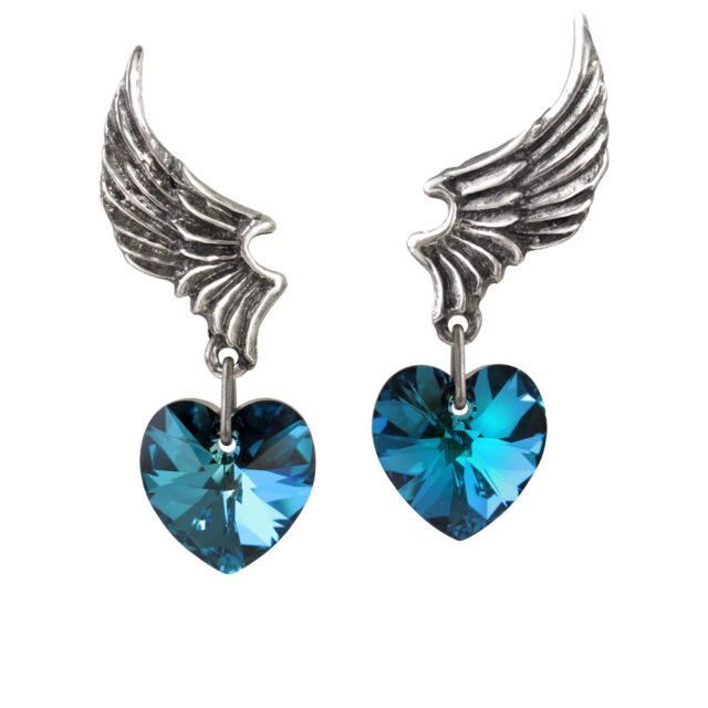 GENUINE Alchemy Gothic Earrings - El Corazon | Ladies Crystal Fashion Jewellery