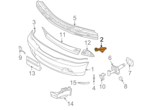 BMW NEW GENUINE E46 3 SERIES COUPE CONVERTIBLE FRONT BUMPER GUIDE LEFT 7065475