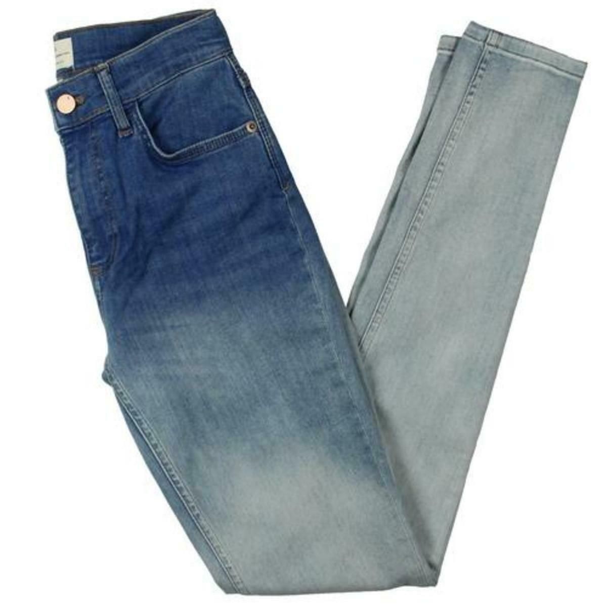 French Connection Womens bluee Mid-Rise Denim Ombre Skinny Jeans 2 BHFO 0479