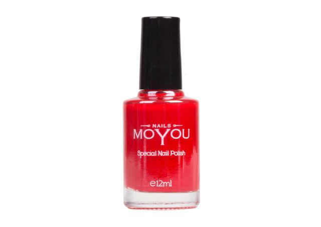 Moyou Smalto Per Stamping Unghie Rosso 12ml