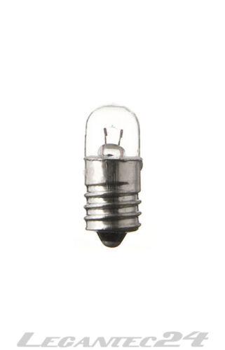 Glühlampe 2,2V 400mA 0,9W E10 9x23mm Glühbirne Lampe Birne 2,2Volt 0,9Watt neu