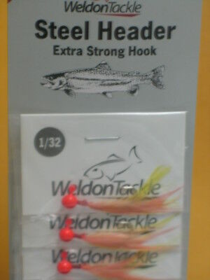 Lot Of 12 Weldon Steel Header Jigs 1//16oz TEAL
