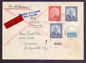 Bund-1954-Herrlicher-Eilboten-Brief-mit-2mal-30Pf-Rand-Michel-185-00-675