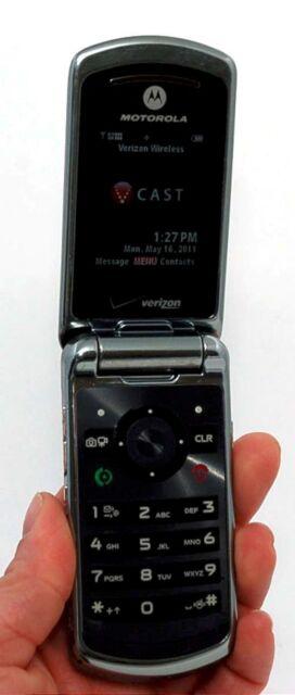 Motorola Verizon W755 Flip Cell Phone BLACK vCast music 1