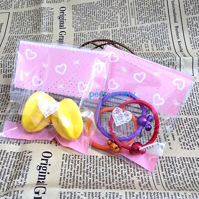 "lovely ""hearts"" cello cellophane cookie candy treat bags self adhesive party"