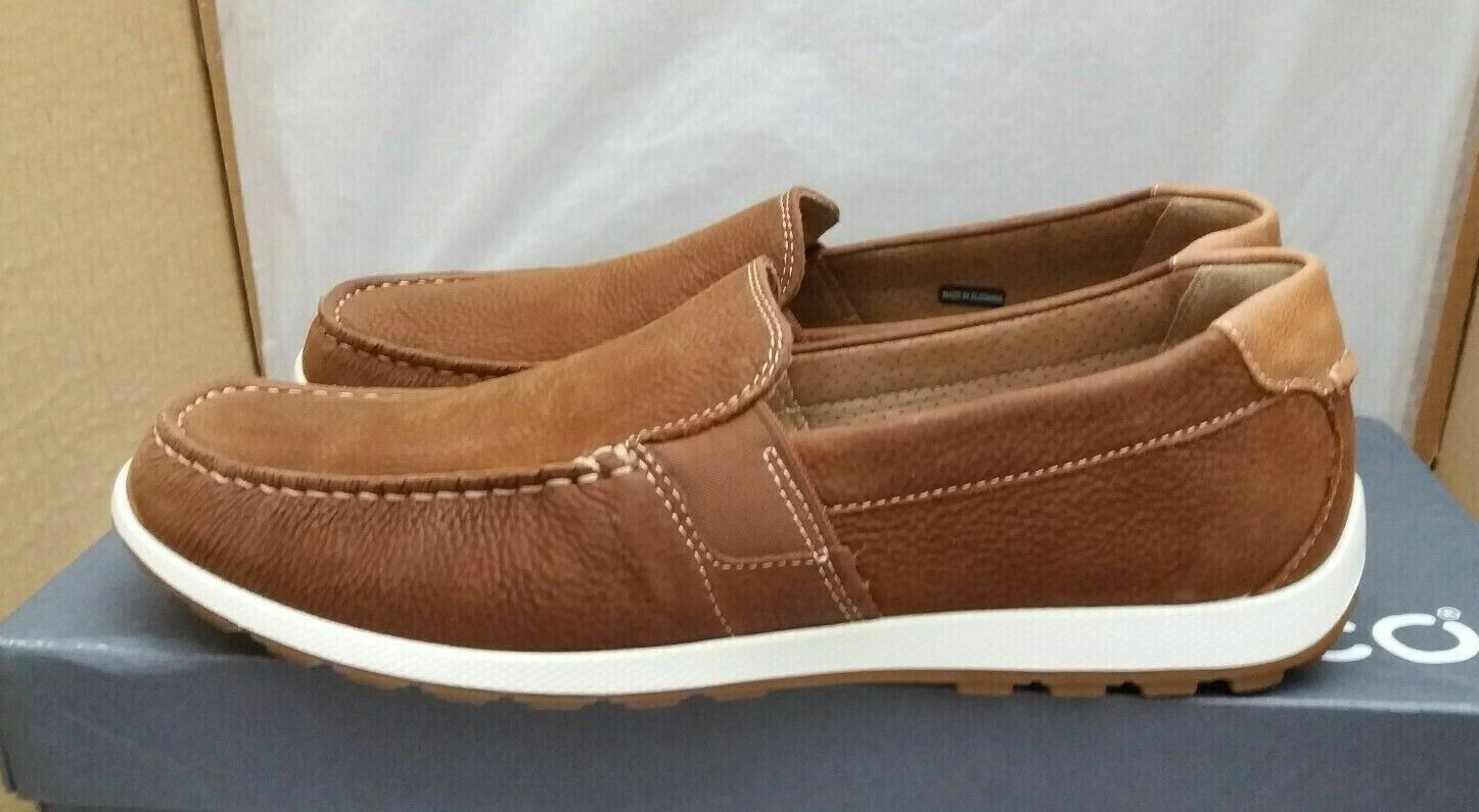 Ecco Reciprico - Nubuck Leather Moccasin Loafers - Mahogany - UK 6.5-7 EU 40