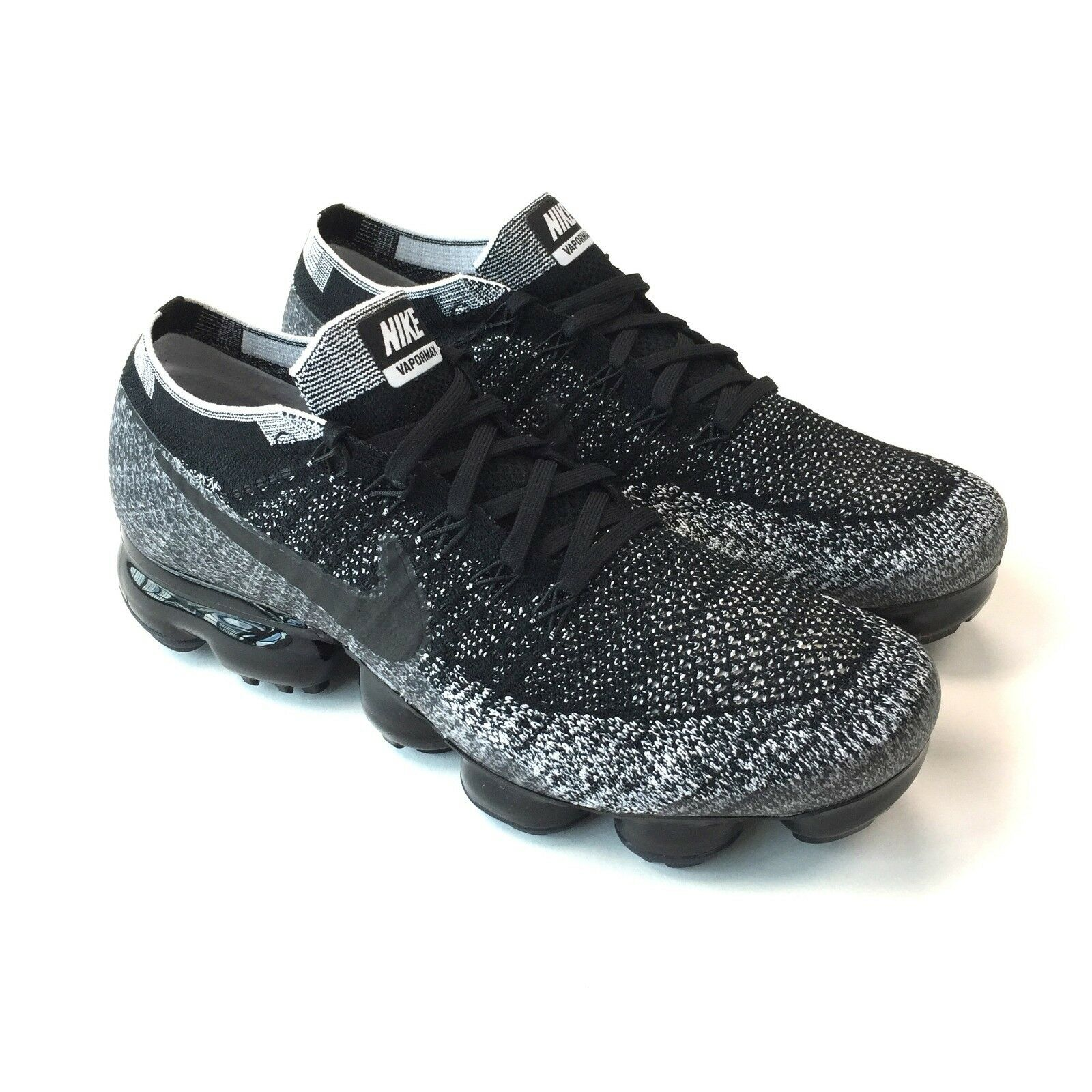 NWT Nike Men's Air Vapormax ID Flyknit NikeID Black White Oreo DS 12 AUTHENTIC