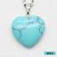 Fashion Quartz Gemstone Heart Rock Healing Point Chakra Pendant Necklace